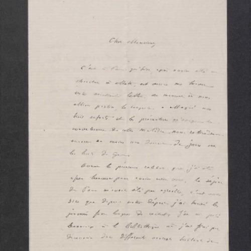 [Lettre de Théodore Boudet, comte de Puymaigre à Théodore Hersart de la Villemarqué le 10 mai 1868]