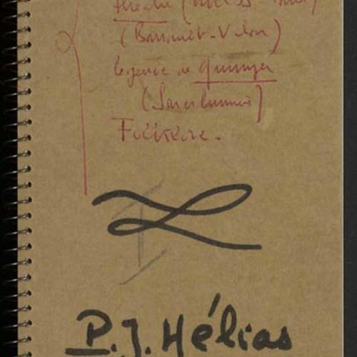 Carnet manuscrit de Pierre-Jakez Hélias, « Notennou I », 1954