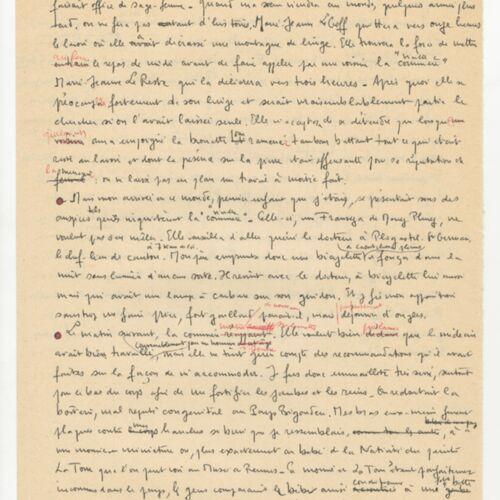 Manuscrit original de l'œuvre Le cheval d'orgueil.