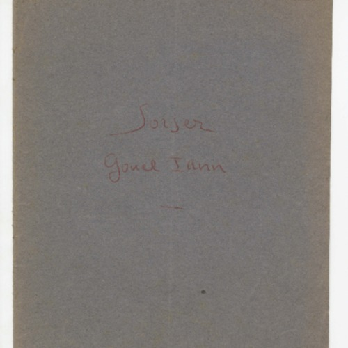 Manuscrit original de la pièce Sorser Gouel Iann.
