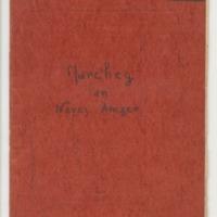 Manuscrit original de la pièce de théâtre Marc'heg an Nevez Amzer.